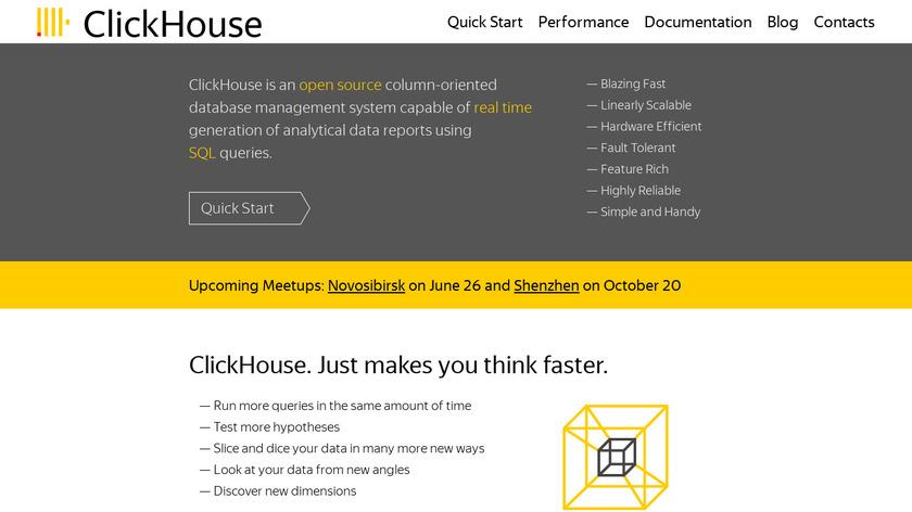 ClickHouse Landing Page