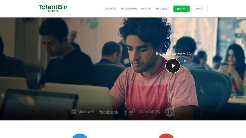 TalentBin Landing Page