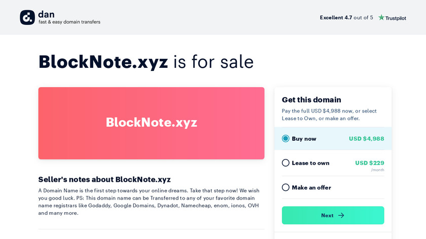 BlockNote Landing Page