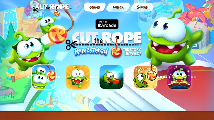 Cut the Rope Landing Page