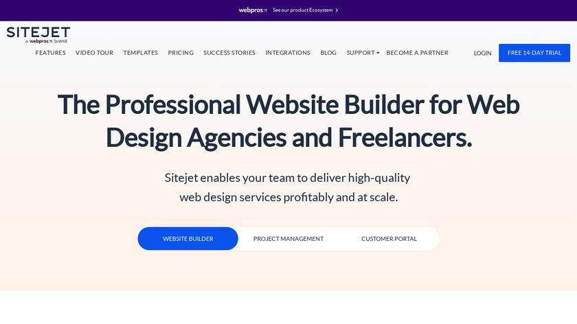 SiteJet Landing Page