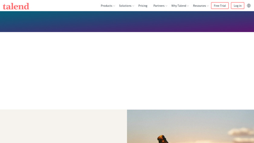 Talend Data Integration Landing Page