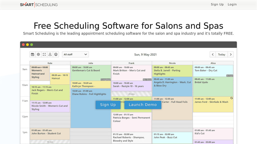 Smart Scheduling Landing Page