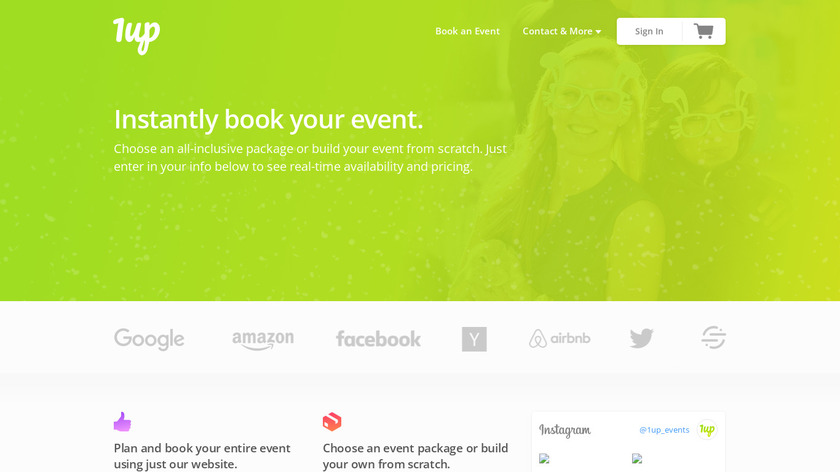 1up Events Landing Page