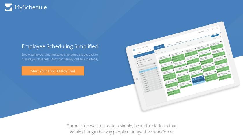MySchedule Landing Page