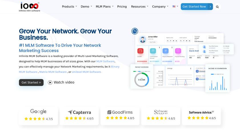 Infinite MLM Software Landing Page