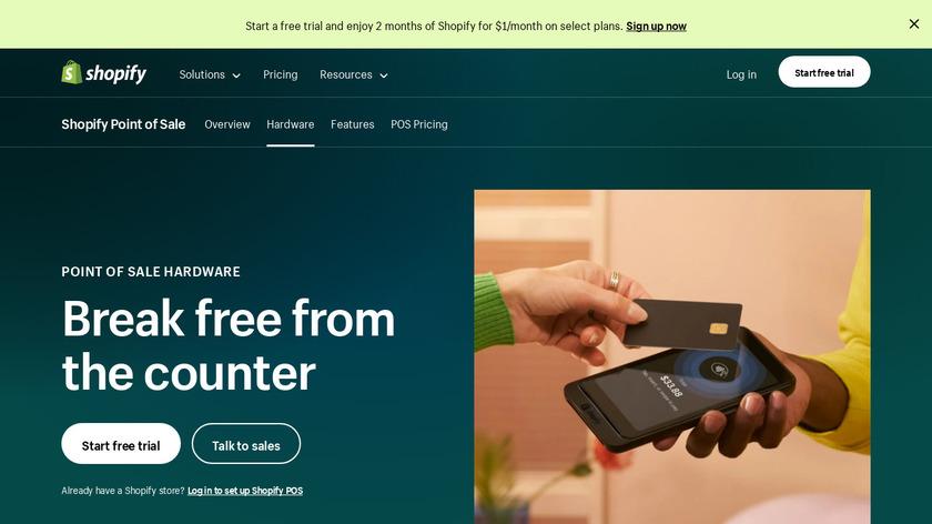Shopify Tap & Chip Reader Landing Page