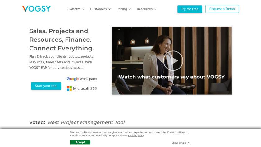 VOGSY Landing Page