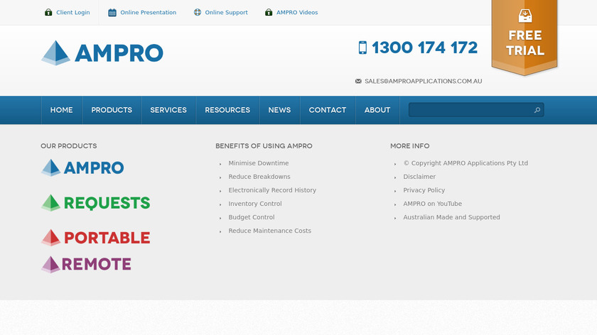 AMPRO Landing Page