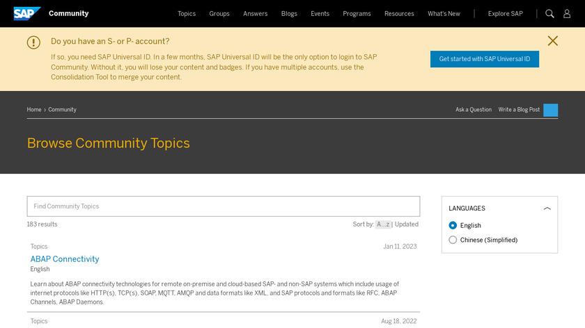 SAP NetWeaver Landing Page