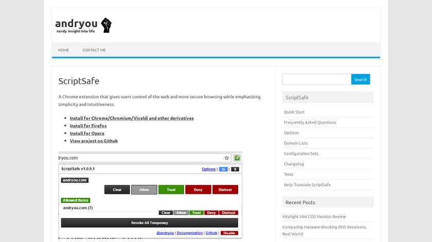 ScriptSafe Landing Page