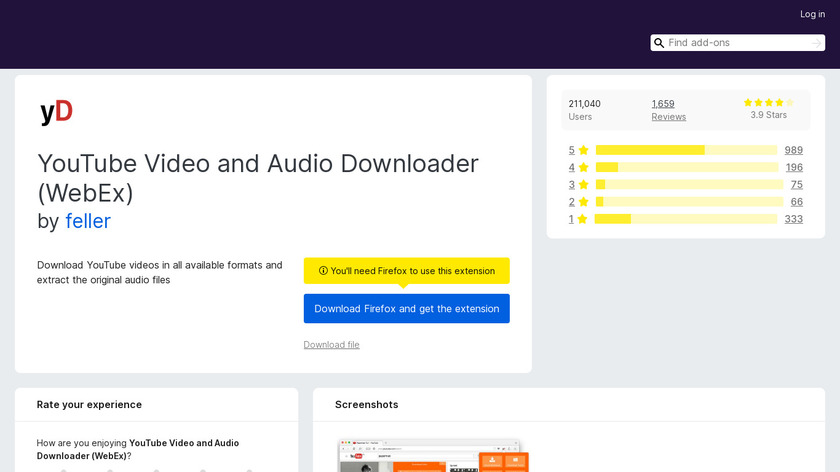 Youtube Video and Audio Downloader Landing Page