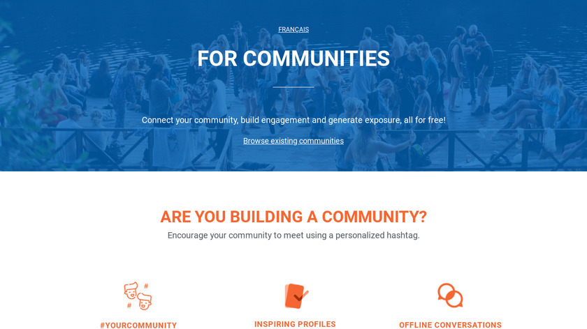 Shapr for communities Landing Page