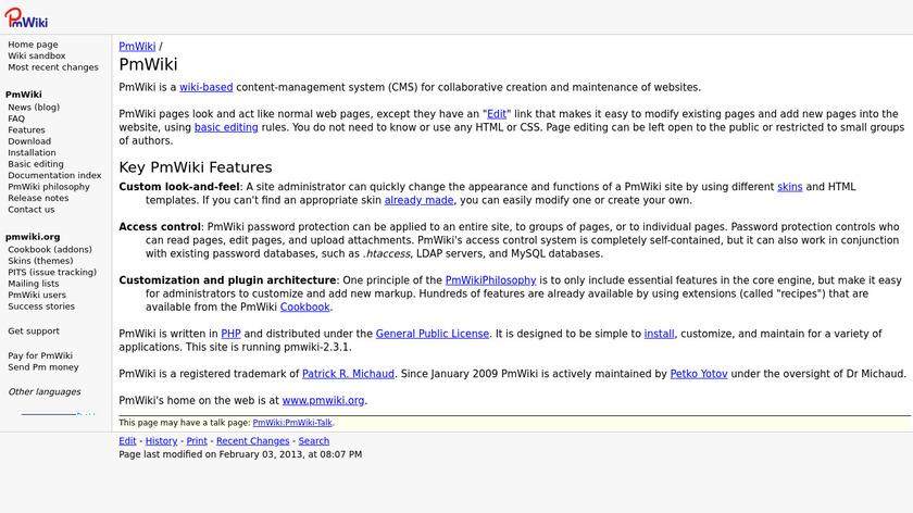 Pmwiki Landing Page
