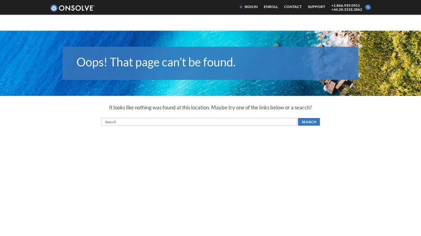 onsolve.com SmartNotice Landing Page
