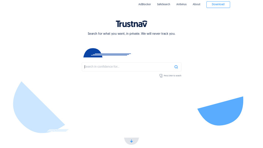 Trustnav Security Suite Landing Page