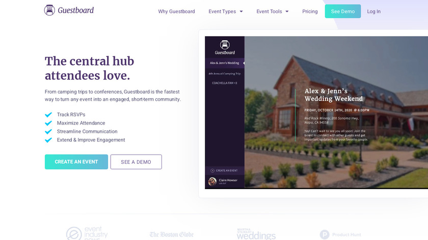 Guestboard Landing Page