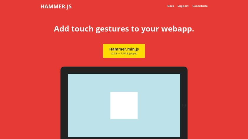Hammer.js Landing Page