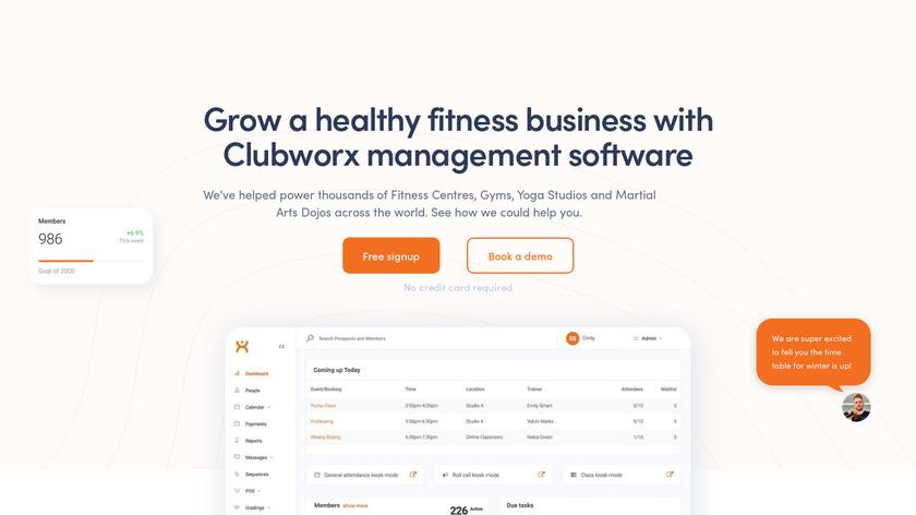 Clubworx Landing Page