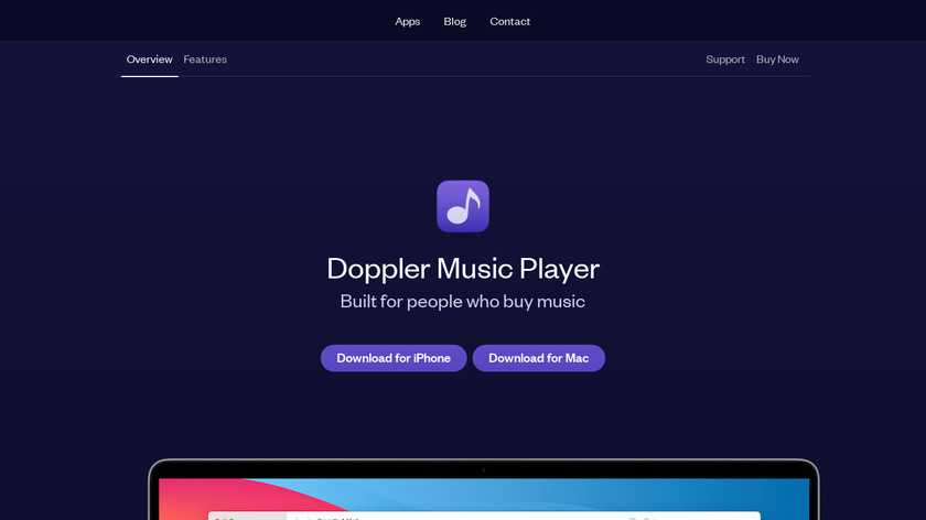 Doppler for iPhone Landing Page
