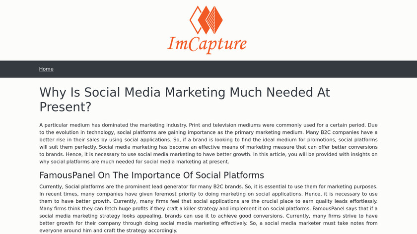 IMCapture for Skype Landing Page