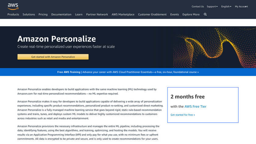 AWS Personalize Landing Page