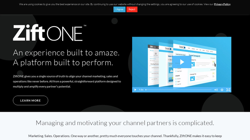 Zift Solutions Landing Page