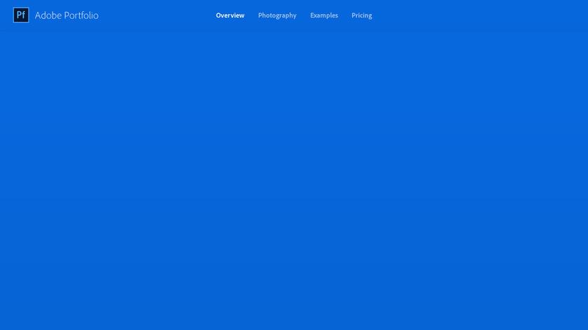Adobe Portfolio Landing Page