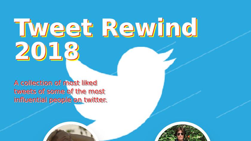 Tweet Rewind 2018 Landing Page