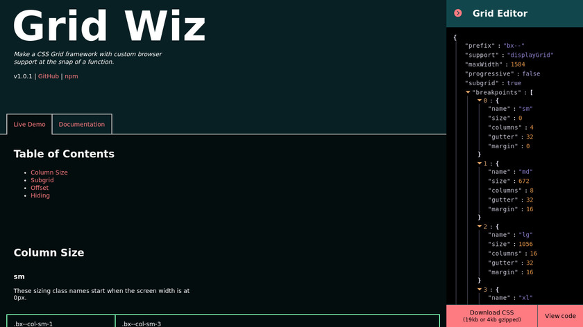 Grid Wiz Landing Page