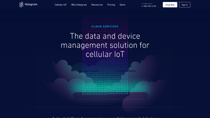 Hologram IoT Landing Page