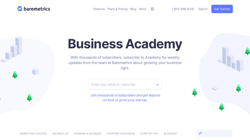 The Business Academy Landing Page