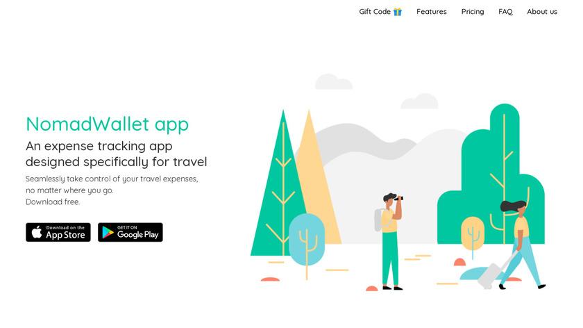 NomadWallet Landing Page