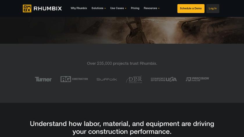 Rhumbix Landing Page
