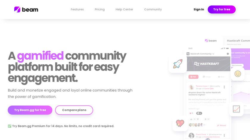 Beam.gg Landing Page