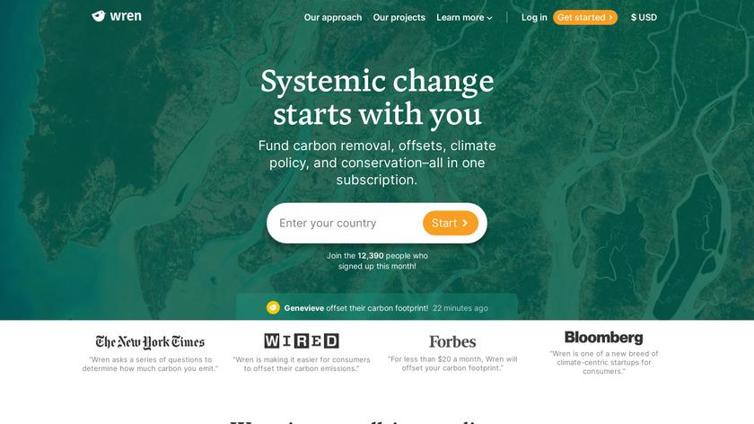 Wren Landing Page