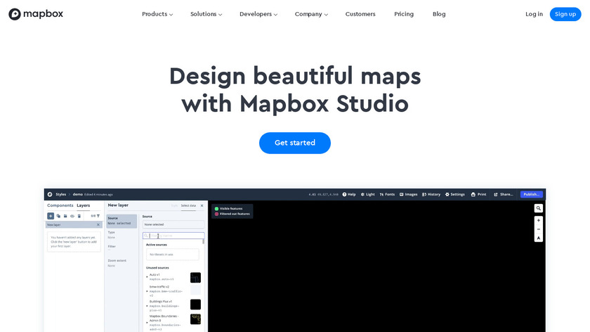 Mapbox Studio Landing Page