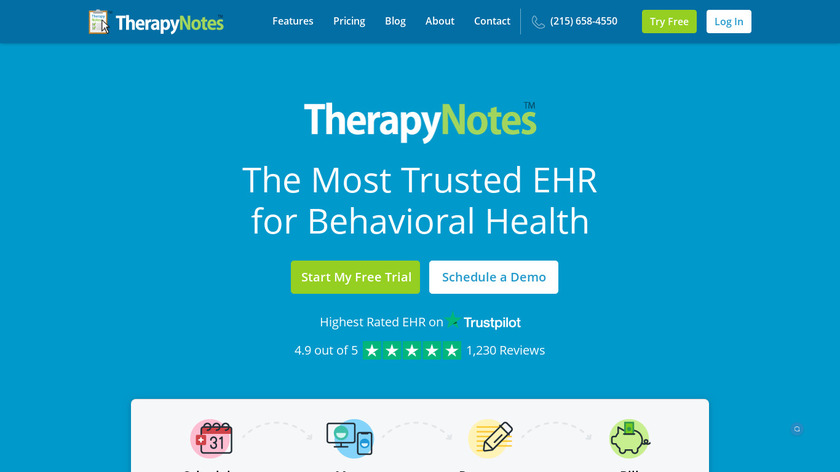TherapyNotes Landing Page