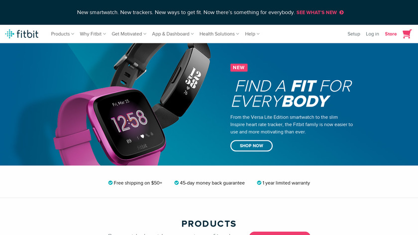 Fitbit Charge Landing Page