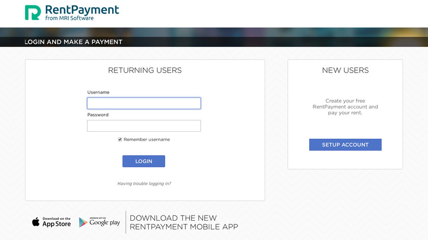 RentPayment Landing Page