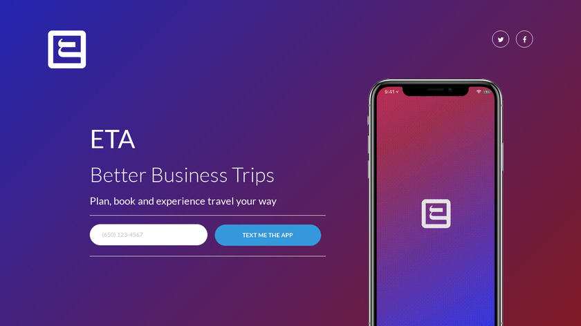ETA - Executive Travel App Landing Page