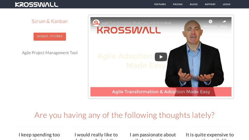 Krosswall Landing Page