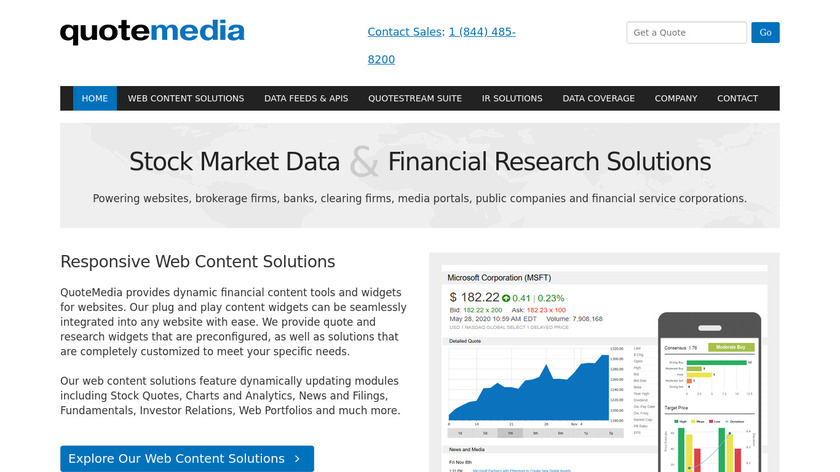 QuoteMedia Landing Page