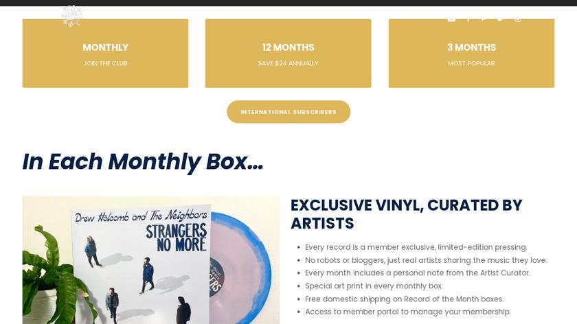 Magnolia Record Club Landing Page
