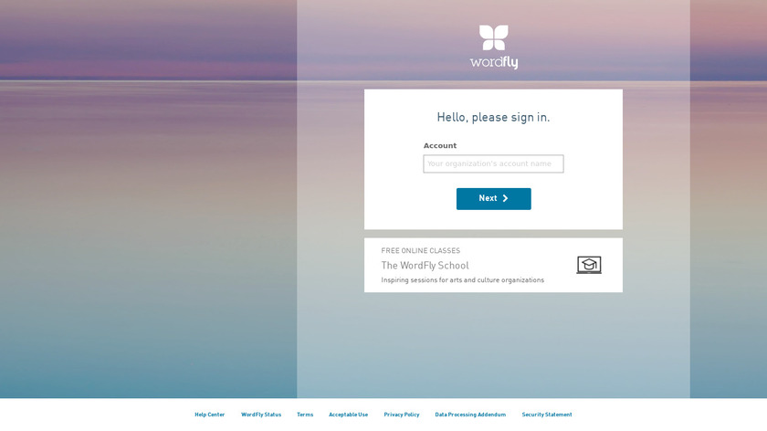 WordFly Landing Page