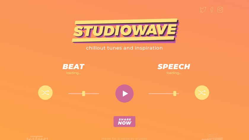 Studiowave Landing Page