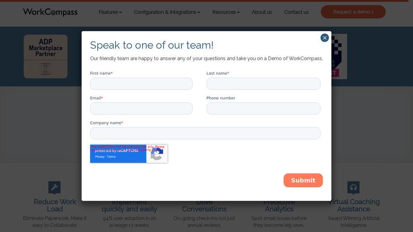 WorkCompass Landing Page
