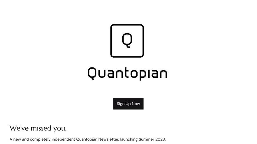 Quantopian Landing Page