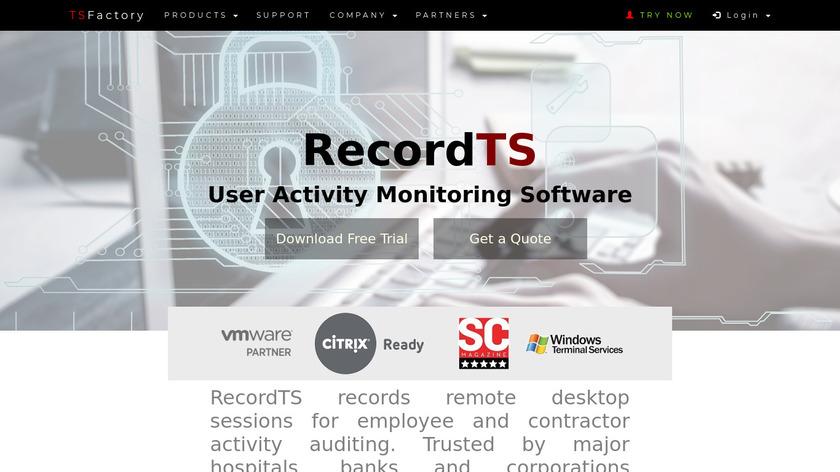RecordTS Landing Page