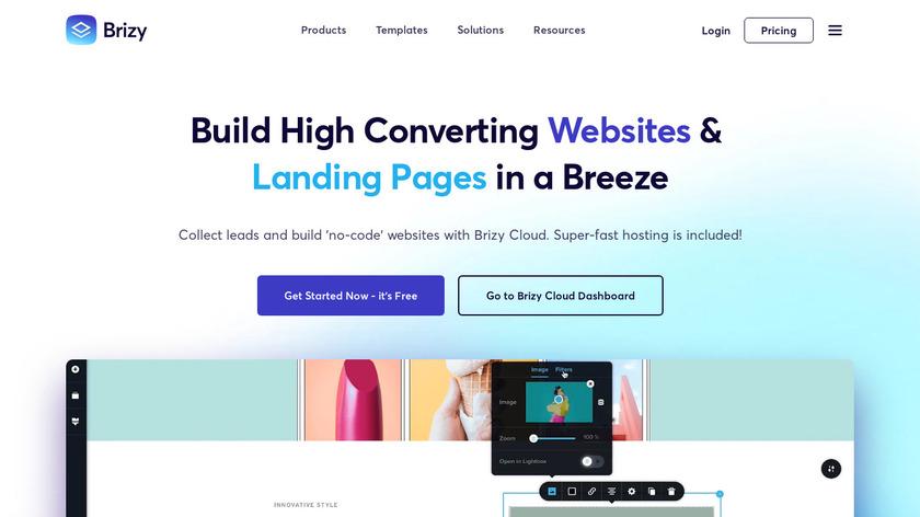 Brizy Cloud Landing Page